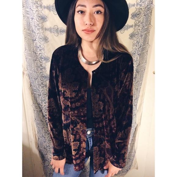 67% off Vintage Jackets & Blazers - Boho velvet paisley kimono ...