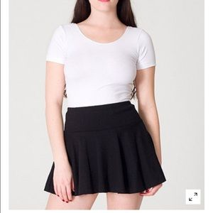 American Apparel knit jersey pleated black skirt