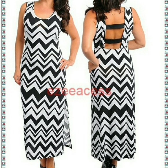 Chevron Maxi Dress Plus Size Boutique