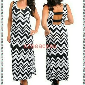 boutique  Dresses & Skirts - Brand new plus size chevron long maxi dress sexy