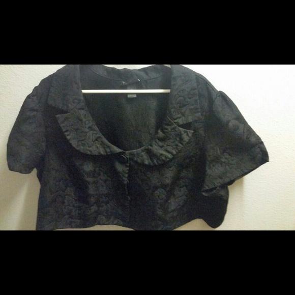77% off Lane Bryant Jackets &amp Blazers - Black dressy short coat