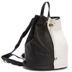 Deux Lux Handbags - Deux Lux Black and White Mod Backpack