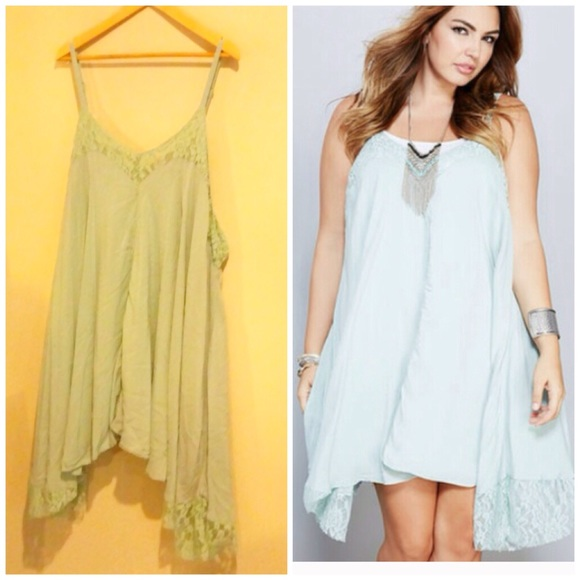 🆕 Wet Seal Plus Size Mint Lace Babydoll Dress