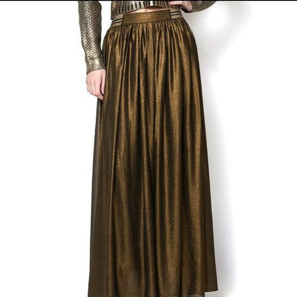 53% off lucyparis Dresses & Skirts - Lucy Paris black gold maxi ...