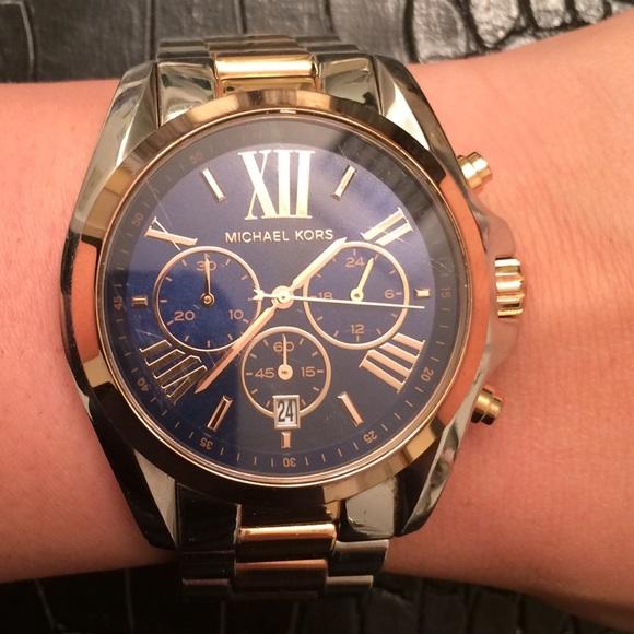 Michael Kors Jewelry Bradshaw Silver And Rose Gold Watch Poshmark