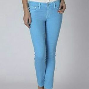 AG Cropped Blue Jeans