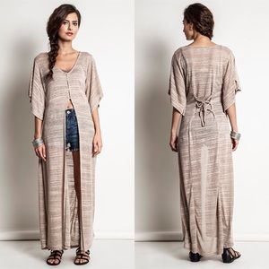 "Bare Anthology Tops - ""Dazzle"" Asymmetrical Maxi Top / Duster"