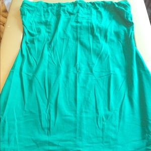 Anchor Blue Tops - Never worn turquoise tube top