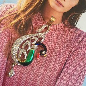 Jewelry - 🆕Cubic zirconia  peacock style pendant set