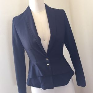 H&M fitted peplum style blazer size 4