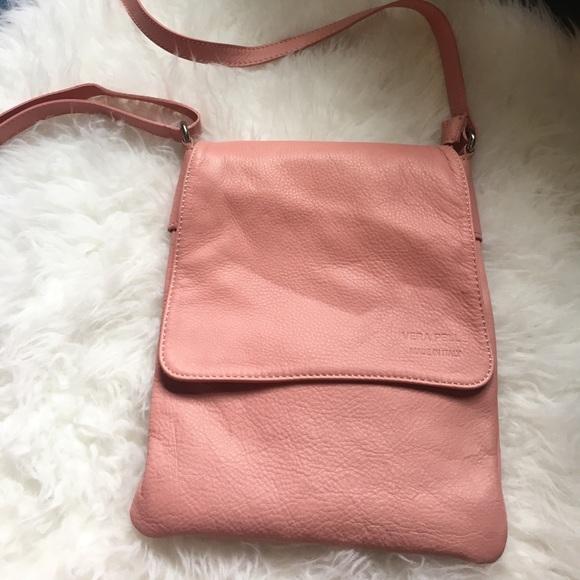 70% off Vera pelle Handbags - Vera Pelle pink leather Crossbody ...