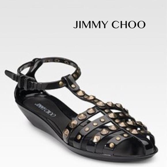 2a9d6f532c5 Jimmy Choo Shoes - JIMMY CHOO Studded Jelly Gladiator Sandal 38