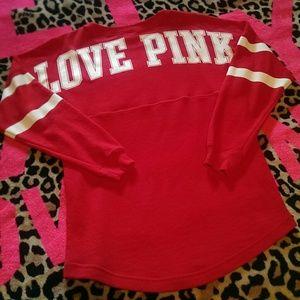 e4933b87f6d77 PINK Victoria s Secret Tops - 🎃1 DAY SALE🎃PINK Wisconsin Varsity Crew