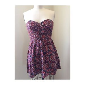 band of gypsies strapless dress size XS
