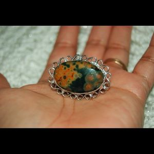 handmade & handcrafted gemstone jewelry Jewelry - Ocean Jasper Statement Ring Size 7