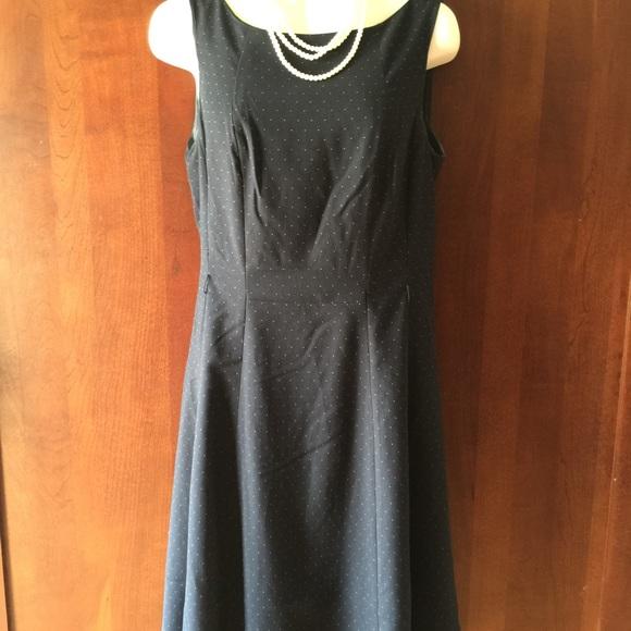 m Navy Polka Dot Dress
