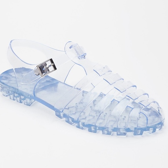 79cf892acc8 Clear Caged Jelly Sandals