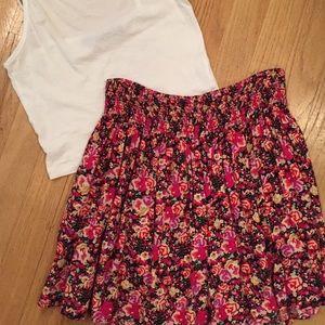Express High waisted floral skirt