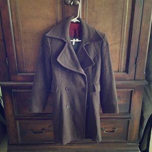 Jackets & Blazers - Dark brown wool and cashmere winter coat