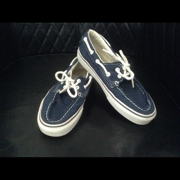 56a661ad54 Vans unisex navy blue boat shoe style. M 55a57d02a4a62c70d701880a