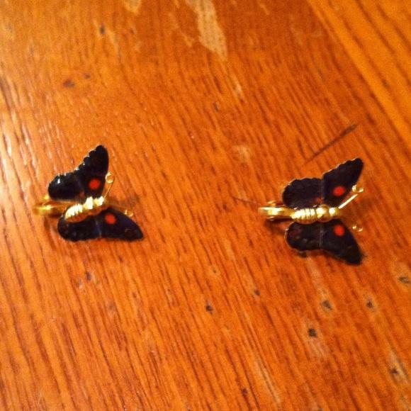 Jewelry - Butterfly Clip on Earrings