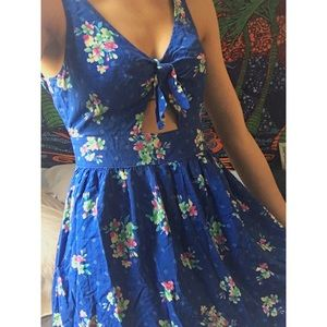 Hollister blue summer dress