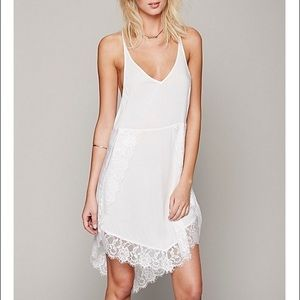 Free People Alabaster Eyelashes Lace Slip!
