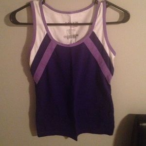Danskin Now Tops - Purple striped athletic top