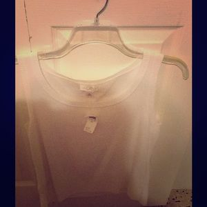 Ann Taylor Tops - Ann Taylor Loft white sleeveless top