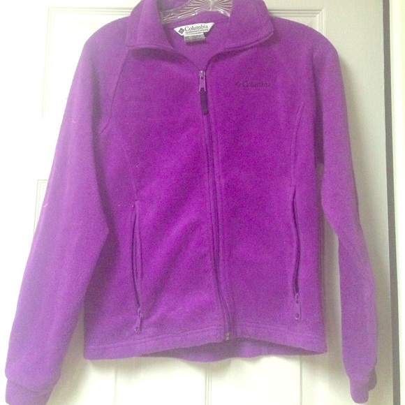 70% off Columbia Jackets & Blazers - Purple Columbia fleece jacket ...