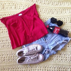 BOGO 50% | Red 90s Nymphet Summer Crop Top