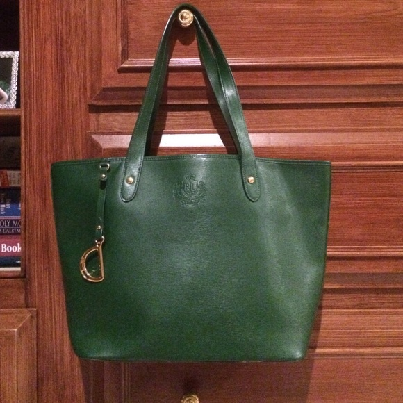 Authentic Ralph Lauren Emerald Green Purse. M 55a5b91994aeb218ae019f66 c1f30ec9db171