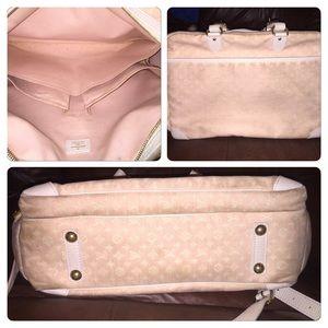 b419617bd1f5 Louis Vuitton Bags - Authentic Louis Vuitton Mini Lin Pink Diaper Bag