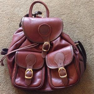 Italian brown leather backpack