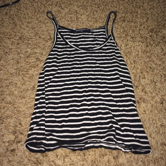 Brandy Melville Tops - Brandy Melville black and white stripped tank!