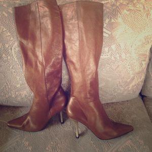 Charles Jourdan Shoes - CHARLES JOURDAN like new knee length tan boots