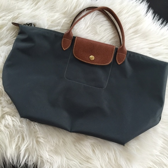 Longchamp short handle medium size tote