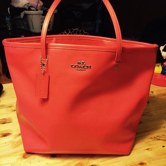 40 coach handbags bright orange coach bag w