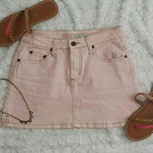 OTB Pink Denim Skirt