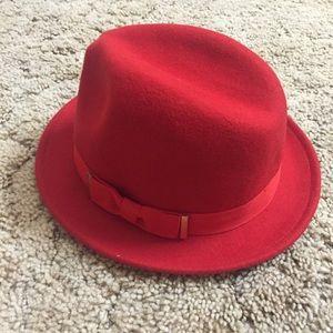 H&M Red fedora hat