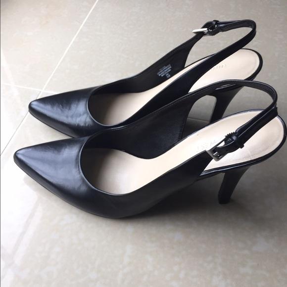 d89ed743f2 Nine West Shoes   Gilliano Black Leather Sling Pumps   Poshmark