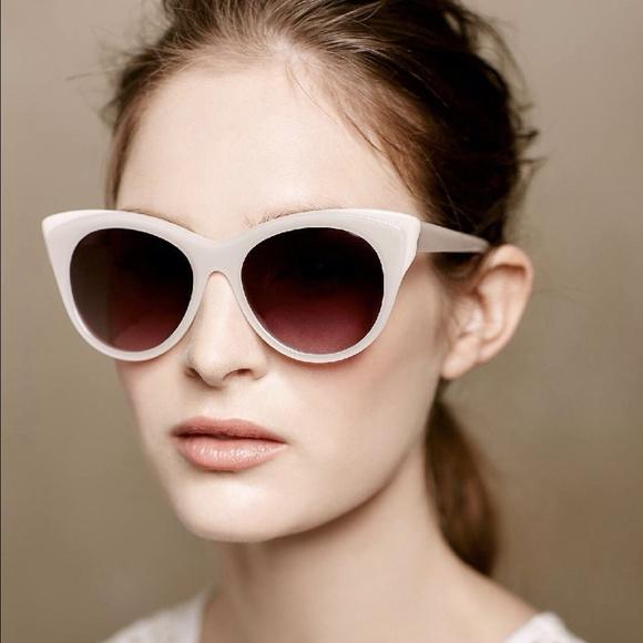 999f45893c5 Anthropologie ett twa Signe Sunglasses Ivory NWT