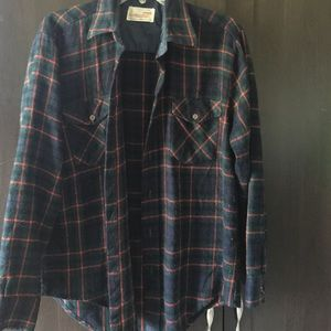 Tops - thick plaid button up