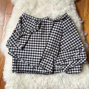 H&M Dresses & Skirts - H&M Conscious Collection Plaid Layered Mini Skirt