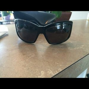 Black with rhinestones Versace sunglasses