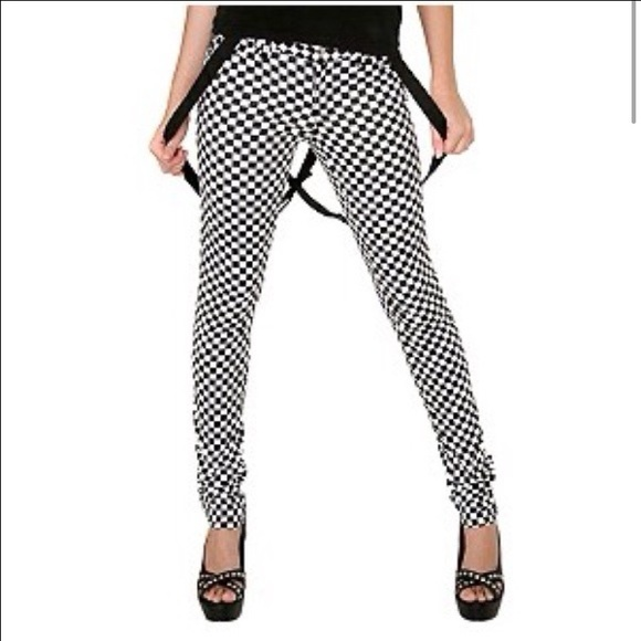 62% off Tripp nyc Denim - Tripp NYC Black and white checkered ...