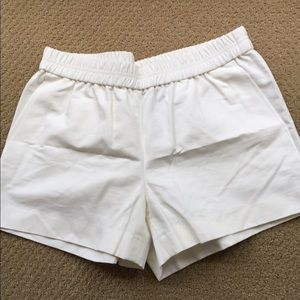 J. Crew Pants - JCrew Ivory Cotton Faille Pull - On Shorts size S
