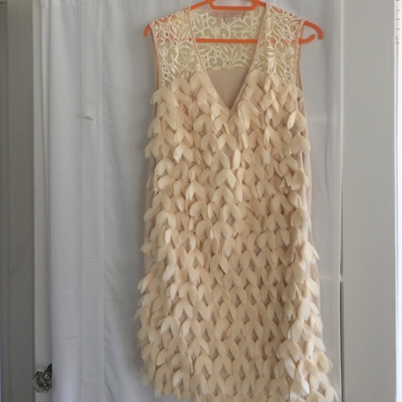 5cc8cdee61edb Anthropologie Dresses | Antholopology Champagne And Strawberry Dress ...