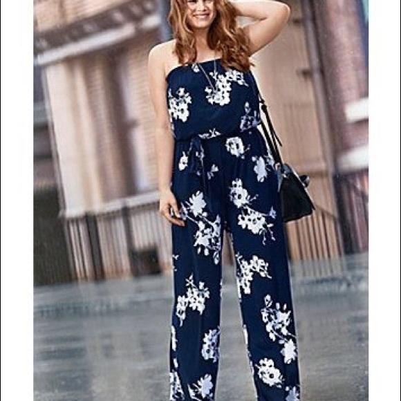 c73a0c875880 Lane Bryant Dresses   Skirts - Lane Bryant floral strapless jumpsuit size 22  24