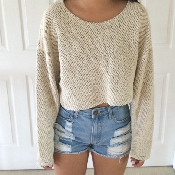 31% off American Apparel Sweaters - American Apparel Easy Cropped ...